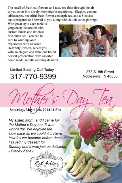 Mother's Day Tea Flyer 2014 single