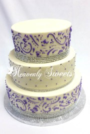 Quilting with Grecian Lace in Purple