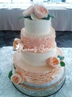 triple swiss dot wedding cake wedding and celebration cakes heavenlysweetscakes 21270