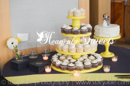 Heavenly Sweets make cupcakes for weddings as well as a cut for the cutting ceremony.