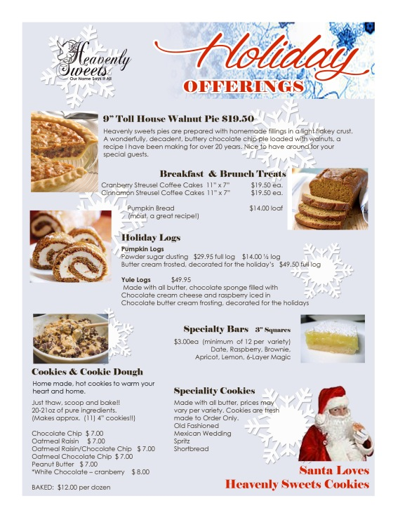 Holiday Offerings 2014