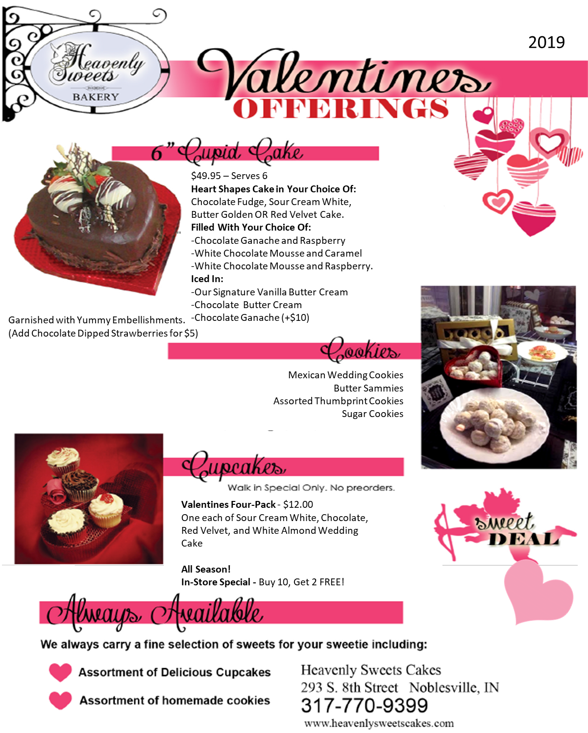 VALENTINES OFFERINGS 2019